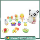 China market safe and cute baby toy rattles package in animal bottle