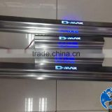 Car door sill plate with LED for D-max 2012-2014