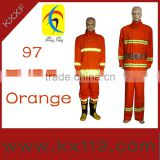 97type Green Orange Comfortable fabric fire fighting uniforms for fire man