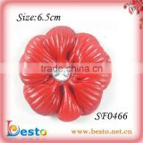 2013 popular new style handmade plastic decorations shoes flower