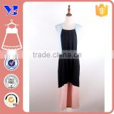 Summer Elegant Beautiful Summer Elegant Beautiful Black Pink Sleeveless Fitted Pleated Layer Dress