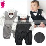 Autumn baby pants unlined upper garment of a new baby boy modelling gentleman suit long-sleeved baby boy clothes