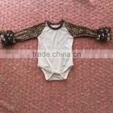 2016 top quality new design Leopard baby romper long sleeve