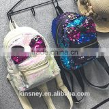 KS10051C Fashion girls sequin bags with bownot designer backpack kids