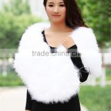 SJ085-01 Wedding Dress White Feather/Birde Wedding Shawl