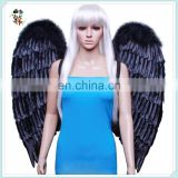 Adult Party Costume Cheap Large Black Feather Angel Wings HPC-0879