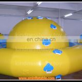 Top fun inflatable water park rotate,aqua floating rotating saturn,inflatable pools pizza float spinner