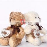 Lovely plush Valentines teddy bear toy with love heart