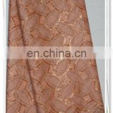 peach african french net lace for party wedding