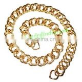 Gold Plated Metal Chain, size: 1x12mm, approx 9.6 meters in a Kg.