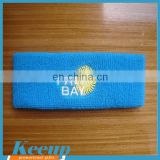 custom printed promotional bulk knitted elastic sports headband