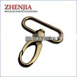 "New design eco friendly bag parts metal 38mm 1.5"" spring snap hook for webbing strap"