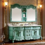 Exquisite Antique Look Double Bathroom Vanity With Hand Craved Design No.801