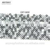 Wholesale heavy sequined mesh ribbon trim