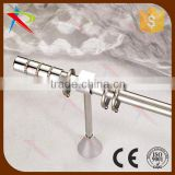 Polished chrome stainless steel shower curtain rod set for sale