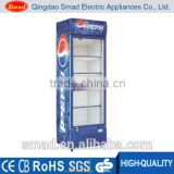 Single Door Upright Cooler/Beverage Display Showcase/Glass Door Fan Cooling Fridge                                                                         Quality Choice