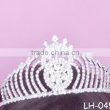 Diamond rhinestone wholesale princess crown tiaras ladies wedding bridal queen crown wholesale