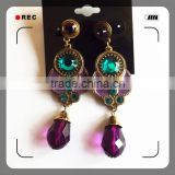 100% brass copper alloy plating gold pearl earring                                                                         Quality Choice