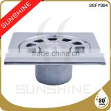 SSFY994 Bathroom and toilet square stainless steel floor drain installation