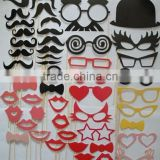 Self-adhesive Fake Beard Moustache Mustache Eyebrow Glasses Set Kit Halloween Props Costume Funny Dress Up Cosplay Party                                                                         Quality Choice