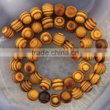 SB0698 Hot Sale Dark Natural Wooden Beads,Brown Grain Grainy Wood Beads,Stripe Wood Round Beads