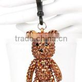 2016 Fashion Jewelry Bling Shiny Crystal Diamond Bear Keychain pendant