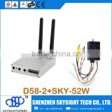 D58-2 5.8Ghz 32CH Wireless AV FPV Diversity Receiver with SKY-52W FPV 5.8G 2W A/V with fpv antenna