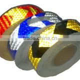 reflective direction tape black and yellow reflective warning tape 50mm*45.7m                                                                         Quality Choice