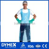 Cheap waterproof disposable PE short Waist Aprons for kitchen /beauty salons/food industry or else