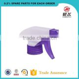 Custom discharge rate 1ML red and white ribbed closure plastic trigger sprayer pump for daily clean