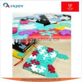 DIY color Mosaic notebook Creative office supplies notebook silicone puzzle notebook