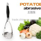 stainless steel potato abrasive with thickening silica gel handle ,baking tools,dolly instruments