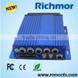 Richmor Phone Monitor 4CH 3G GPS Car DVR Black Box For Taxi