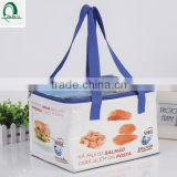 New Design Wholesaler Promotion PP woven Laminated Lunch Cooler Bag with Logo for seafood