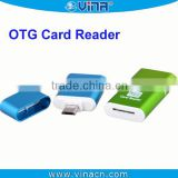 Micro usb2.0 card reader otg connector for Samsung T-FLASH,Micro SD,SDHC