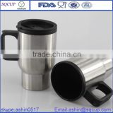 Heated Car Mug Auto Travel Heating Cup- Hot Coffee Warm Tea- Stainless Steel