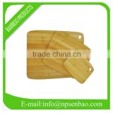 Rectangle bamboo cutting board set with hole