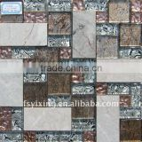 multi sizes marble mosaic tile for glass stone glass tile wall tile decoration