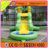 2016 hot popular giant inflatable water slide for kids and adult, inflatable cocoanut trees slide for sale.