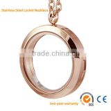 Stainless steel fashion magnetic locket coin necklace