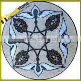Mediterranean tile mural new design natural stone mixed mosaic medallions