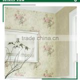 stock lot golden edge non woven wallpaper, romantic flower wall decor for bedroom , magnificent wall decor roll