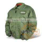 Flight Jacket adopts high strength nylon or Dupont nylon with high density, waterproof and windproof
