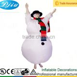 DJ-CO-137 inflatable christmas snowman mascot costume for adult box mod                                                                         Quality Choice