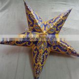 new glitter printed paper star lamps ganesh
