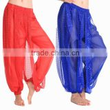 2016 Women's Genie Harem Pants Belly Dancing Tribal Costume Shinny Bloomers Trousers
