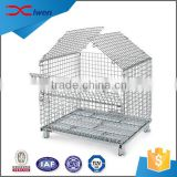 China manufacturer supply lockable metal wire mesh storage cage with wheels                                                                                                         Supplier's Choice