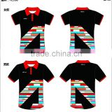 Whole sublimated polo shirts red and black women's polo shirts