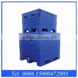 Rotomolded insulation 1000L Capacity plastic Fish transport totes, plastic storage bins totes