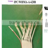 UL2651-28AWG -16P 1.27mm pich flat cable+ 2.54 Termial (Crimping+assembly) flat cable wire harness